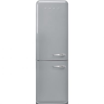 Combina frigorifica retro Smeg FAB32LSV5, No Frost, clasa D, gri , balamale pe stanga