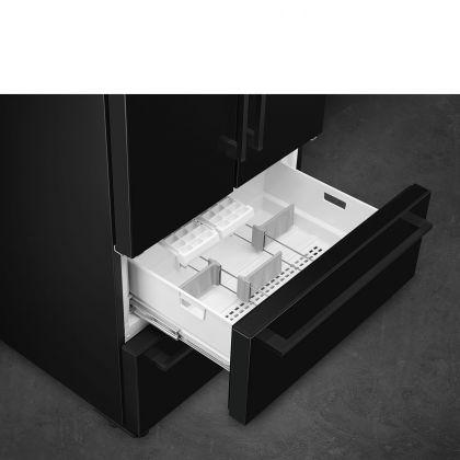 Frigider Side by Side cu 4 usi Smeg FQ55FNDF, congelator No Frost, negru