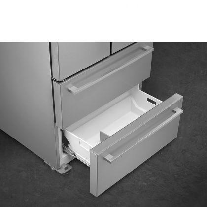 Frigider Side by Side cu 4 usi Smeg FQ55FXDF, congelator No Frost, inox