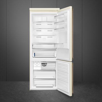 Combina frigorifica retro Smeg Colonial FA8005RPO5, 70 cm latime, crem, Total No Frost