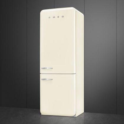 Combina frigorifica retro Smeg FAB38RCR5, 70 cm latime, Total No Frost, crem