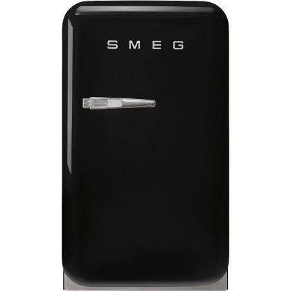 Frigider minibar retro Smeg FAB5RBL5, negru, static