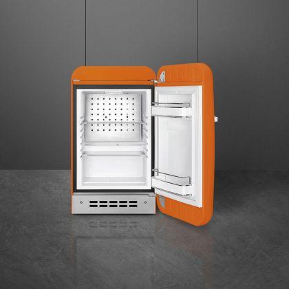 Frigider minibar retro Smeg FAB5ROR5, portocaliu, static