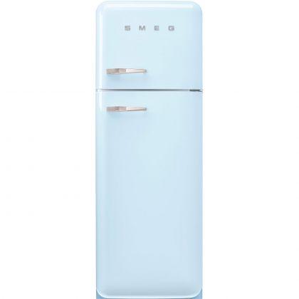 Frigider cu 2 usi retro Smeg FAB30RPB5, 60 cm latime, albastru, static