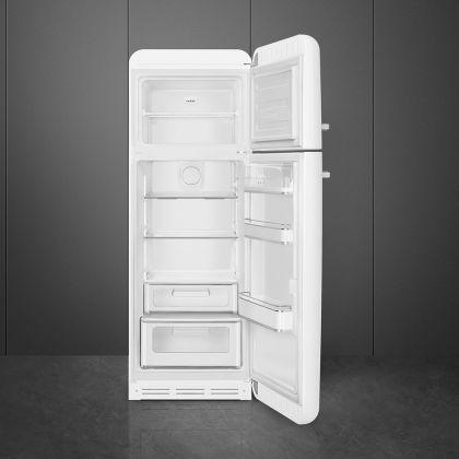 Frigider cu 2 usi retro Smeg FAB30RWH5, 60 cm latime, alb, static