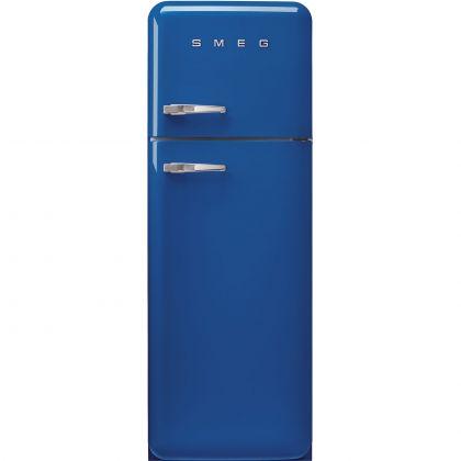 Frigider cu 2 usi retro Smeg FAB30RBE5, 60 cm latime, albastru, static
