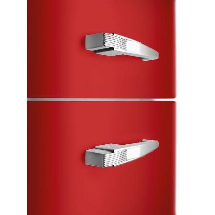 Frigider cu 2 usi retro Smeg FAB30RRD5, 60 cm latime, rosu, static
