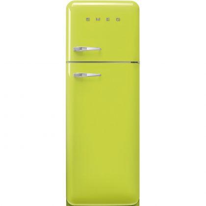Frigider cu 2 usi retro Smeg FAB30RLI5, 60 cm latime, verde lime, static