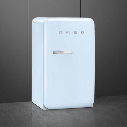 Frigider minibar retro Smeg FAB10RPB5, albastru pal, static