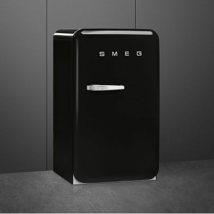 Frigider minibar retro Smeg FAB10RBL5, negru, static