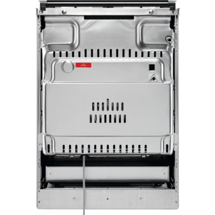 Aragaz Zanussi ZCG612H1XA pe Gaz, 4 arzatoare, 51 L, 60 cm, Clasa A, aprindere electrica, Grill, Rotisor, iluminare cuptor, Inox