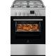 Aragaz mixt Electrolux LKK660200X, SteamBake, AirFry, Grill, 60 cm, Clasa A, 58 L, Inox