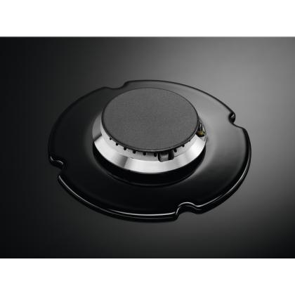Plita incorporabila pe gaz Electrolux KGG95375K, 90 cm, gratare de fonta, wok, Neagra