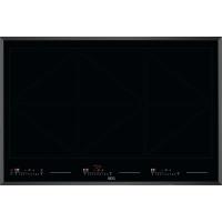 Plita incorporabila inductie AEG IKE86688FB, 80 cm, Hob2Hood, PowerSlide, Timer individual, Neagra