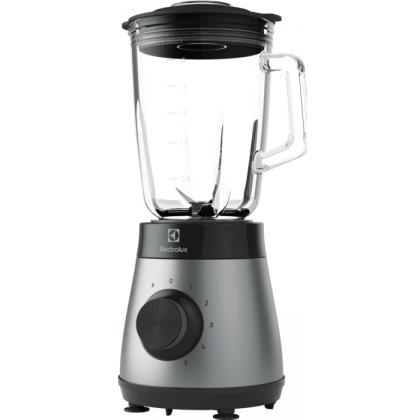 Blender Electrolux E4TB1-6ST, 800W, 5 viteze + PULSE, cana sticla termo-rezistenta, 1,5 litri, inox