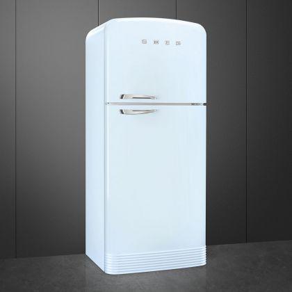 Frigider cu 2 usi retro Smeg FAB50RPB5, No Frost, 80 cm latime, albastru pal