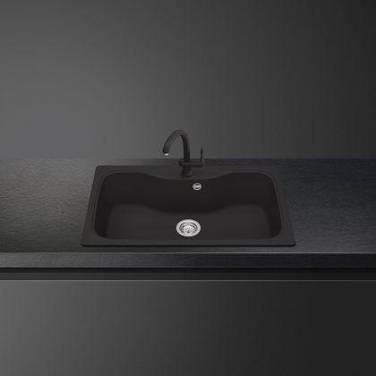 Chiuveta de compozit Smeg LSEG860A2, 86 cm, antracit