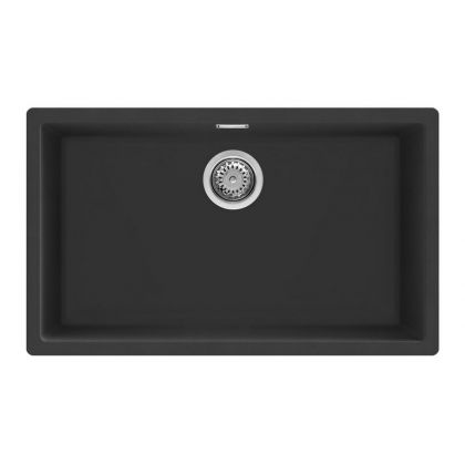 Chiuveta de compozit Smeg VZP76N, 75 cm, neagra