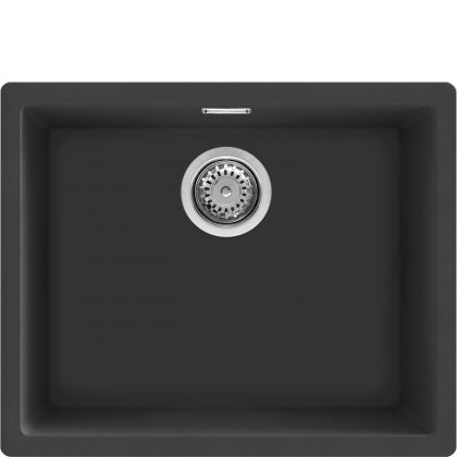 Chiuveta de compozit Smeg VZP56N, 55 cm, neagra