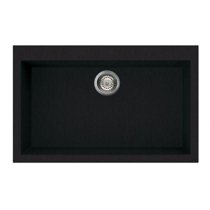 Chiuveta de compozit Smeg VZ79N, 80 cm, neagra