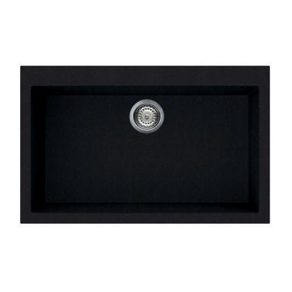 Chiuveta de compozit Smeg VZ79CN, 80 cm, extra neagra