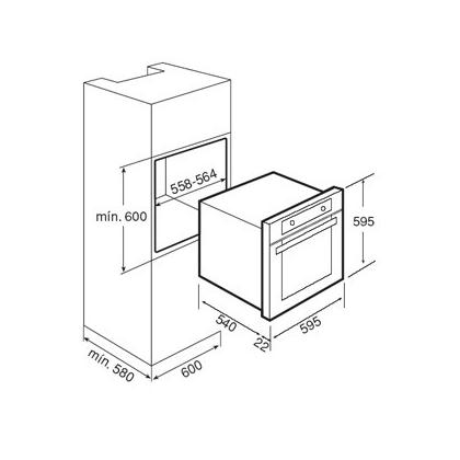 Cuptor incorporabil pe gaz Teka FGA 820, catalitic