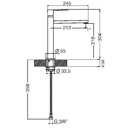 Baterie de bucatarie Smeg MFQ8-CR, crom
