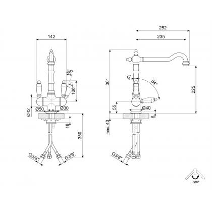 Baterie de bucatarie retro Smeg MAP77OT, alama