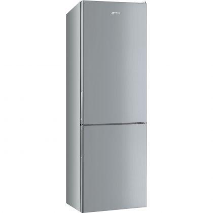 Combina frigorifica Smeg FC18EN1S, 60 cm latime, Total No Frost, Clasa E, gri