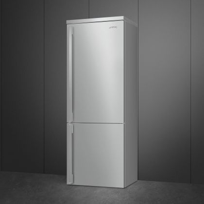 Combina frigorifica retro Smeg Portofino FA490RX5, Total No Frost, 70 cm, clasa E, inox