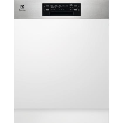 Masina de spalat vase partial incorporabila Electrolux EEM69300IX, AirDry, GlassCare, 15 seturi, 8 programe, 60 cm, Inverter, clasa D