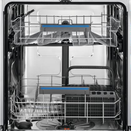 Masina de spalat vase partial incorporabila Electrolux EES47300IX, AirDry, 13 seturi, 8 programe, 60 cm, Inverter, clasa D
