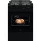 Aragaz mixt Electrolux LKK660200K, SteamBake, AirFry, gratare fonta, 58 L, 60 cm, clasa A, negru