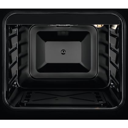 Aragaz Zanussi ZCG510U1XA pe Gaz, 50 cm, Aprindere electrica, Iluminare cuptor, capac sticla, 59 l, inox