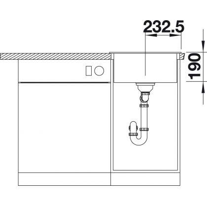 Chiuveta BLANCO DALAGO 45, silgranit, antracit, 46 cm, 517156