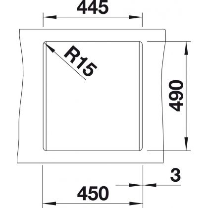 Chiuveta BLANCO DALAGO 45, silgranit, trufe, 46 cm, 517317