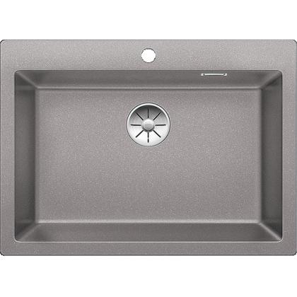 Chiuveta BLANCO PLEON 8 Silgranit InFino, alumetalic, 70 cm, 523045