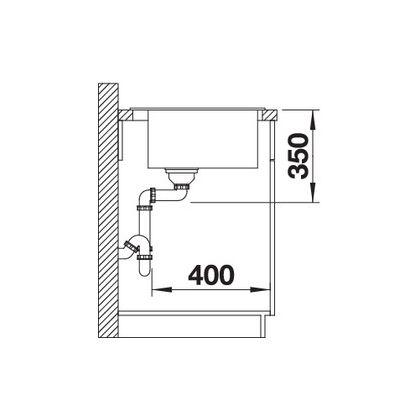 Chiuveta BLANCO PLEON 8 Silgranit InFino, neagra, 70 cm, 525957