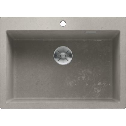 Chiuveta BLANCO PLEON 8 Silgranit InFino, gri beton, 70 cm, 525309