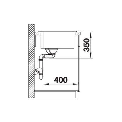 Chiuveta BLANCO PLEON 9 Silgranit InFino, jasmin, 90 cm, 523062