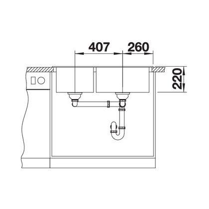 Chiuveta BLANCO PLEON 9 Silgranit InFino, trufe, 90 cm, 523064