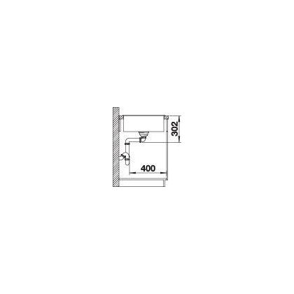 Chiuveta BLANCO AXIA III XL 6 S Silgranit InFino cu tocator sticla, antracit, 100 cm, 523510