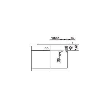 Chiuveta BLANCO AXIA III XL 6 S Silgranit InFino cu tocator sticla, neagra, 100 cm, 525857