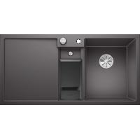 Chiuveta bucatarie BLANCO COLLECTIS 6 S Silgranit InFino, cos de sortare, gri piatra, 100 cm, 523345
