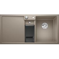 Chiuveta bucatarie BLANCO COLLECTIS 6 S Silgranit InFino, cos de sortare, trufe, 100 cm, 523351