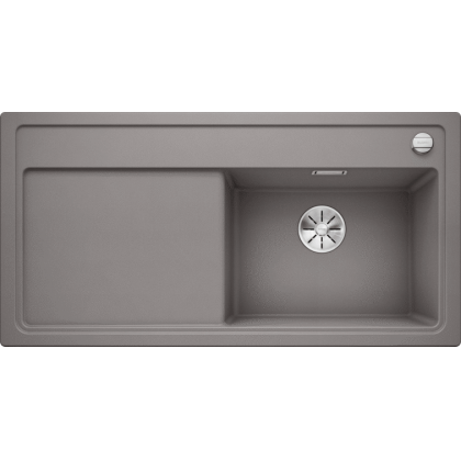 Chiuveta BLANCO ZENAR XL 6 S Silgranit InFino, alumetalic, 100 cm, 523966
