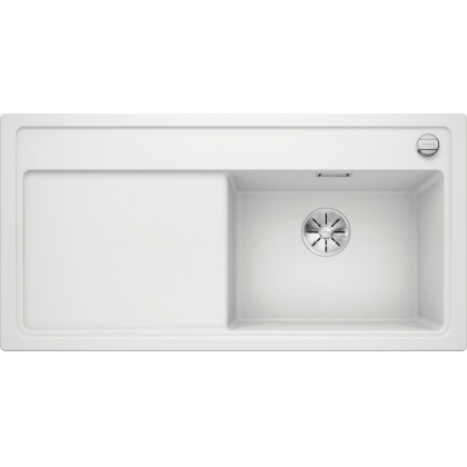 Chiuveta BLANCO ZENAR XL 6 S Silgranit InFino, alba, 100 cm, 523968