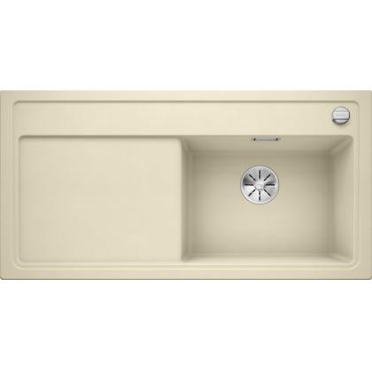 Chiuveta BLANCO ZENAR XL 6 S Silgranit InFino, jasmin, 100 cm, 523969