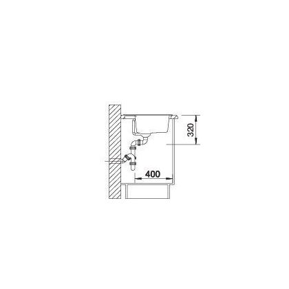 Chiuveta BLANCO DALAGO 6, silgranit, trufe, 60 cm, 517320