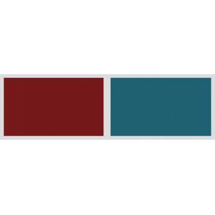 Panou antistropire AluSplash gama Elegance Ruby Scarlet / Totally Teal, 564.64.010, 4100x750 mm, 4 mm grosime, suprafata lucioasa